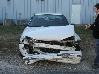 Car after 12/4/2008 wreck, on 12/7/2008.