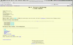 benpollock.com home page 2002-2011