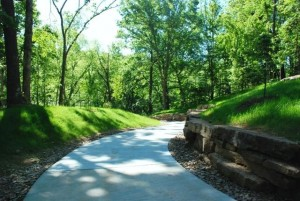 Trail from downtown Bentonville to museum. Photo from city, www.bentonvillear.com.