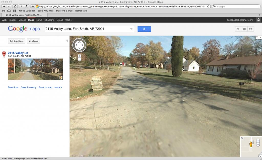 Childhood home of Ben Pollock, far right