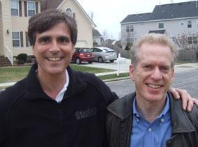 Columnist Jeff Zaslow (right) and professor Randy Pausch