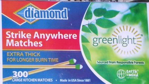 DiamondBrands Greenlight™ Strike Anywhere Kitchen Matches