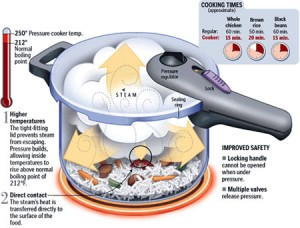 Diagram of a Fagor Splendid pressure cooker