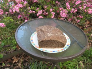 My pumpernickel no-knead loaf