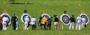 Collecting arrows at Dunster Archery competition, Somerset, 2009. Source: Wikimedia Commons