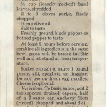 """Part 2, """"Arthur Schwartz' Uncooked Pasta Sauces,"""" Arkansas Gazette, Aug. 7, 1985"""