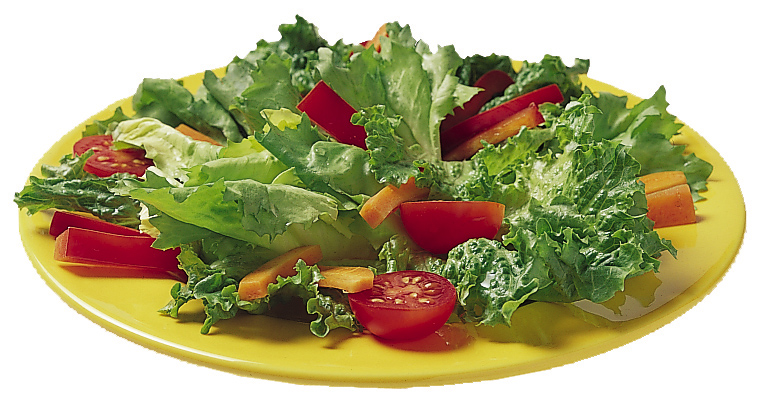 Plate of lettuce salad