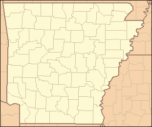Arkansas map showing county boundaries