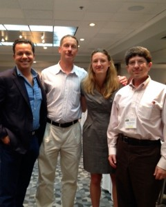 John Avlon, Eric Heyl, Alexandra Petri and Ben Pollock after the morning session of the NSNC conference Saturday, June 28, 2014.
