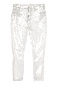 Photo of MOTO Clear Plastic Straight Leg Jeans