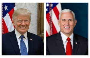 Official White House photo pf President Donald J. Trump and Vice President Mike Pence