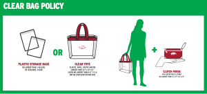 Illustration of bags permitted at University of Arkansas football games