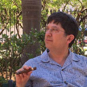 Smoking a Havana in Havana.