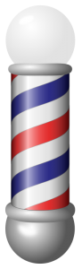 Illustration of traditional barber pole