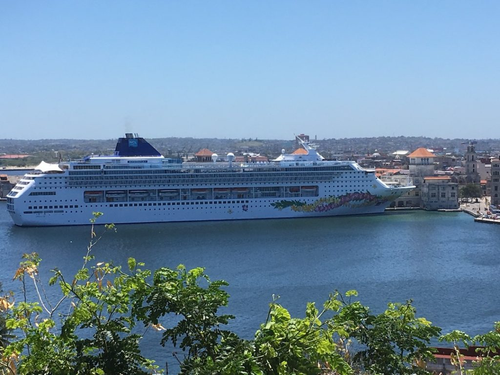 Our ship, the Norwegian Sky, in Havana harbor.