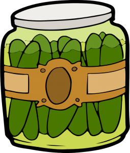 Jar of pickles illustration from openclipart.org