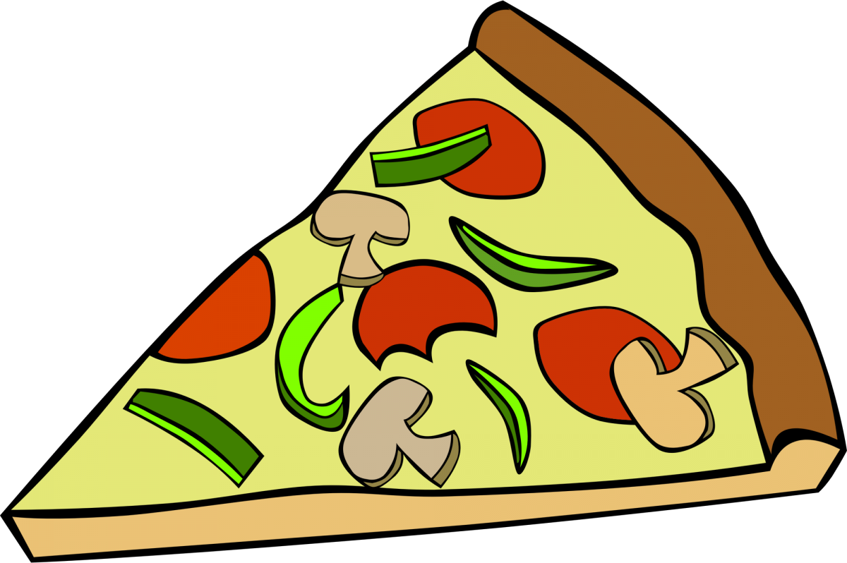 Illustration of a slice of pizza