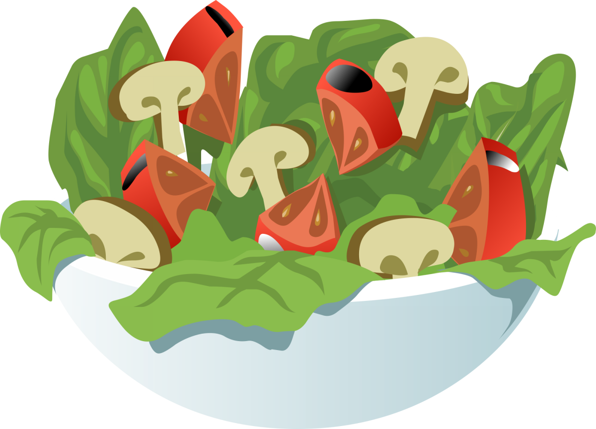 Illustration of a bowl of salad